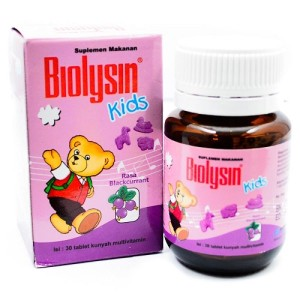 Biolysin Kids Rasa Blackcurrant Isi 30 Tablet