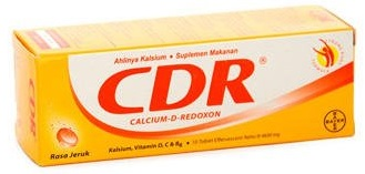CDR (Calcium-D-Redoxon) Effervescent Tablet Isi 10