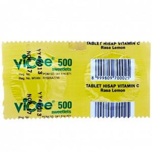 Vicee 500 Mg Tablet Rasa Lemon