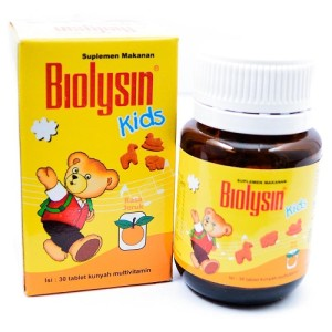 Biolysin Kids Rasa Jeruk Isi 30 Tablet