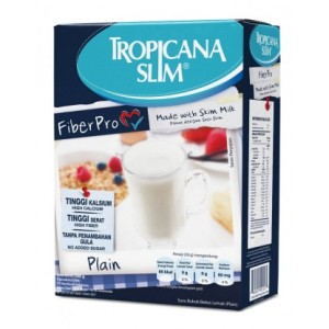 Tropicana Slim Susu Non Fat Fiber Pro Plain