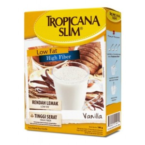 Tropicana Slim High Fiber High Calcium Milk Vanilla (DM ND Vanilla) 180g