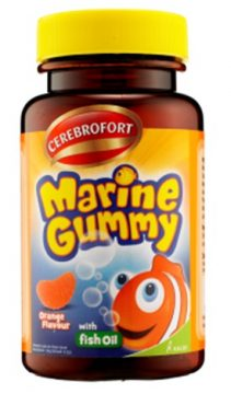 00015048 CEREBROFORT MARINE GUMMY BOTOL ORANGE