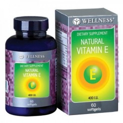 Wellness Natural Vit E 400 IU 60 tablet