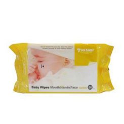 US Baby-Baby Wipes Mouth,Hand,FaceIsi 80 (Food Grade. Paraben Free. Liquid Safe to Swallow)