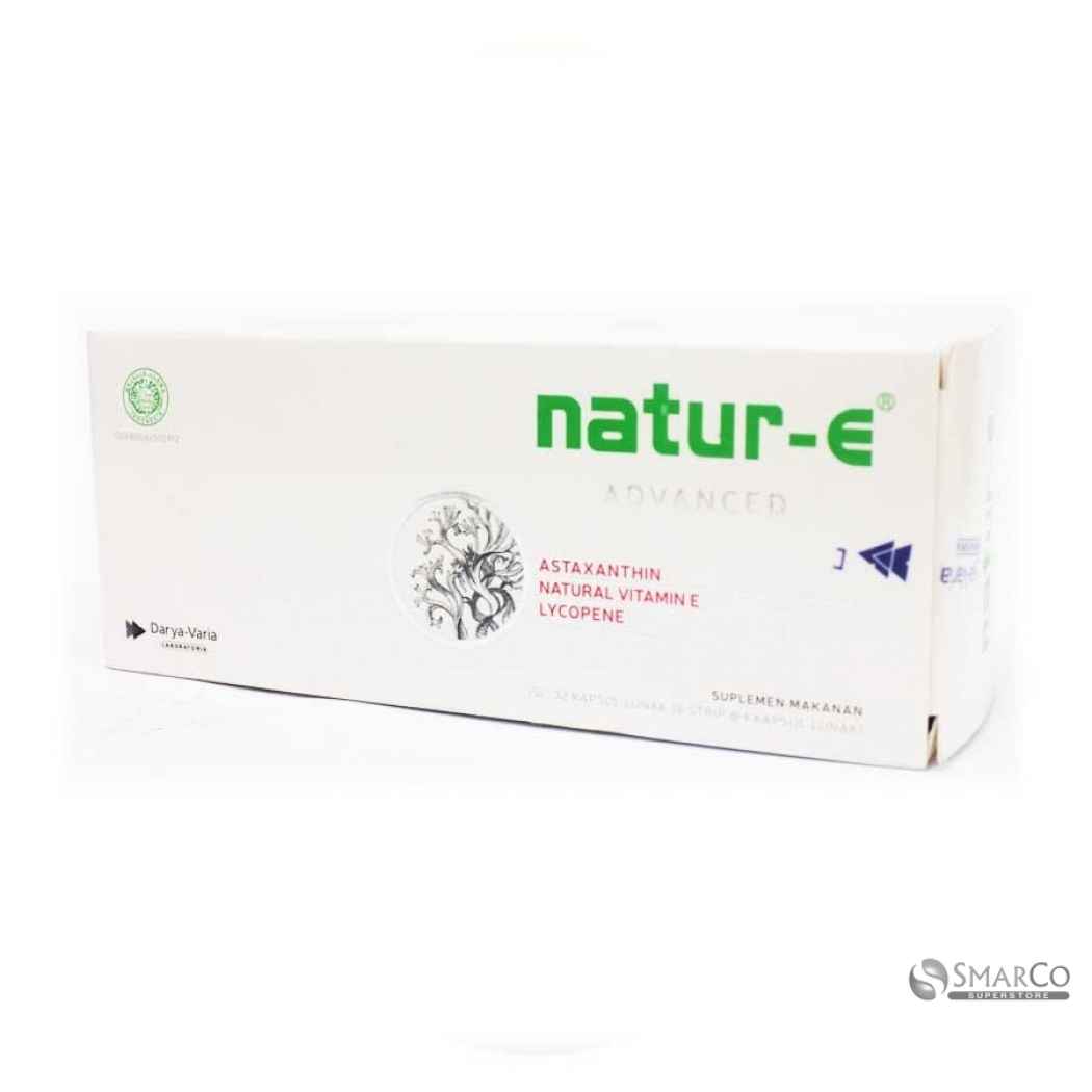 Natur E Advanced Formula Vitamin With Natural Astaxanthin 32 100 Iu Kapsul Per Box Atau Dus Dos Multivitamin Kulit 32s