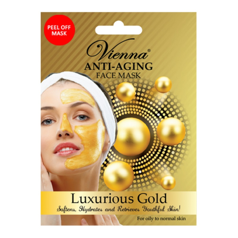 VIENNA Anti Aging Face Mask Luxurious Gold