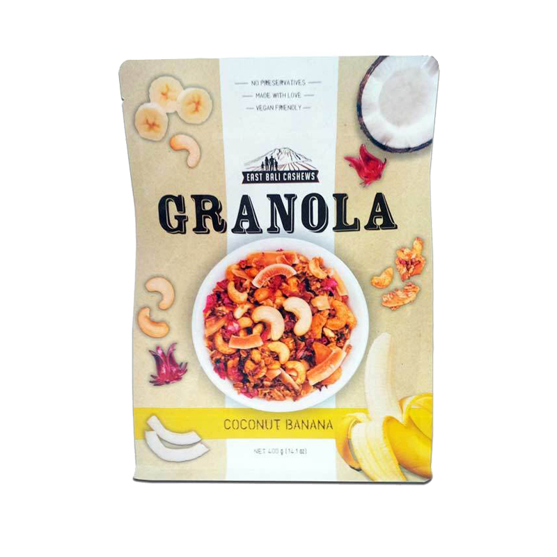 East Bali Cashews Granola Coconut Banana 400gr