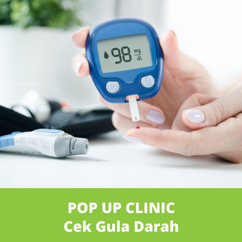 POP UP CLINIC Cek Gula Darah