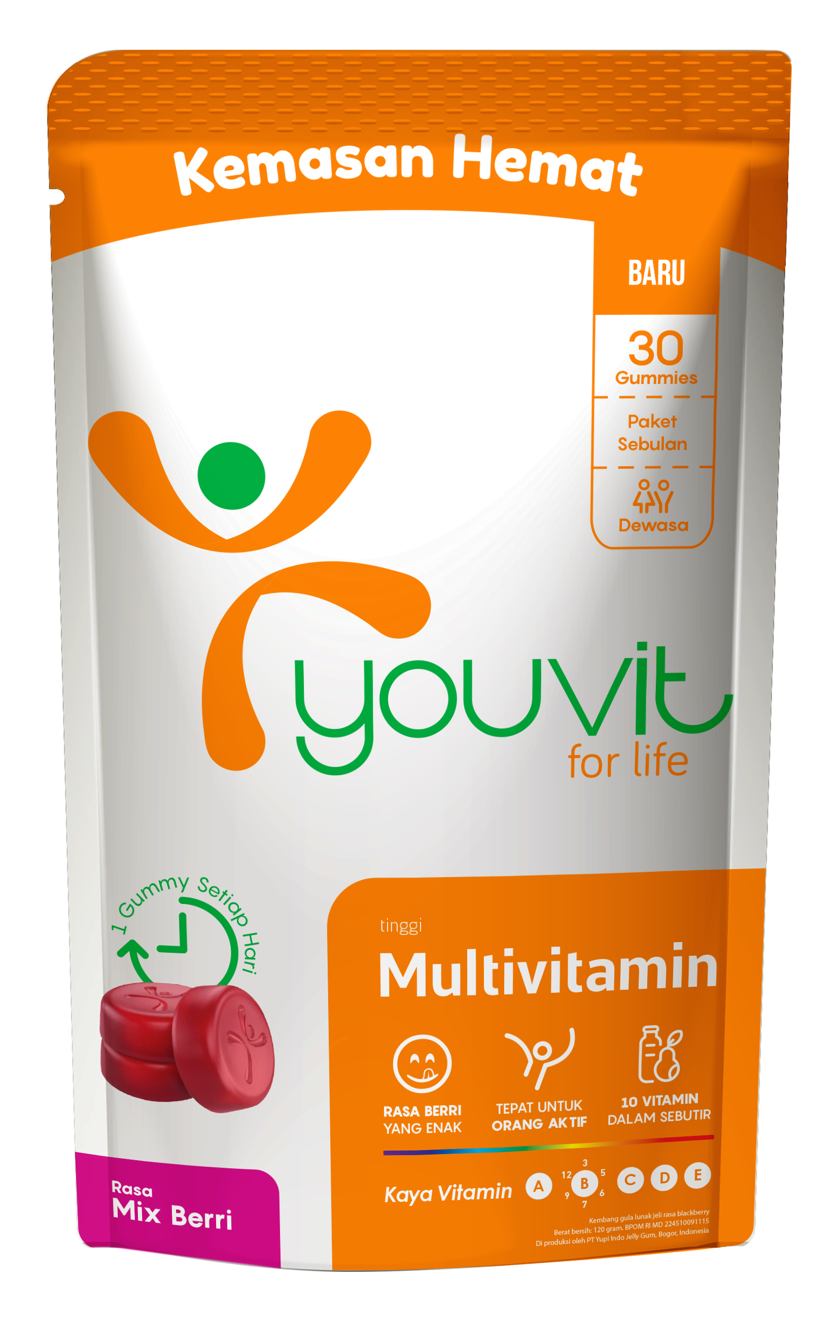 YOUVIT Multivitamin Gummy Dewasa 30 Day isi 30 pcs