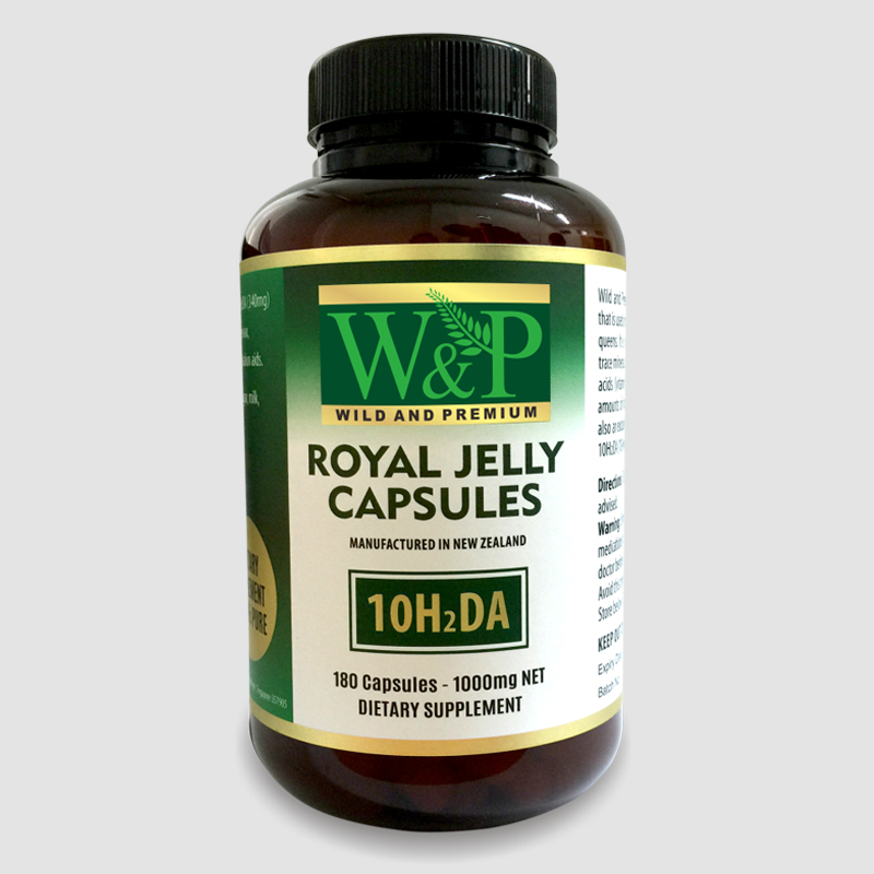 Wild and Premium Royal Jelly Capsule 180 caps